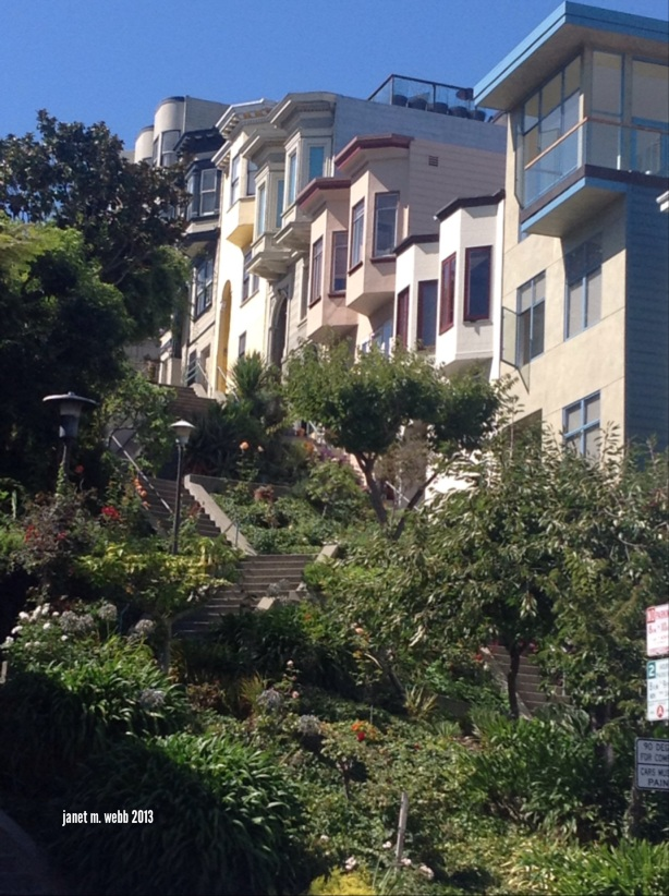 Streets and houses near Coit Tower