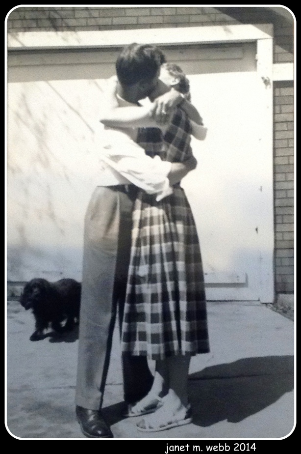 My parents.  Not sure whose dog that is.