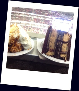 Decadent (and huge) desserts at the Blackhawks hockey game