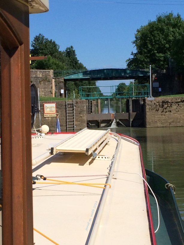 Approaching the lock