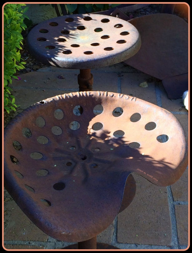Old tractor seats