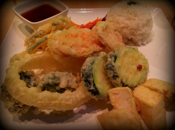 My vegetable and tofu tempura