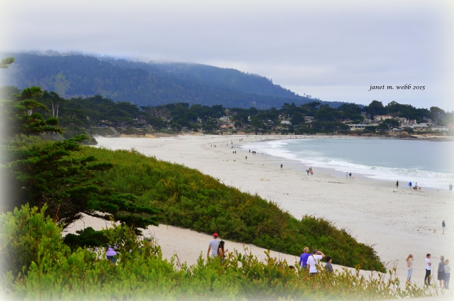 The beach at Carmel