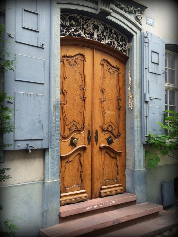 Basel doors copyright janet m. webb 2014