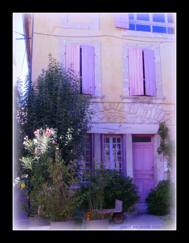 Provence door copyright janet m. webb