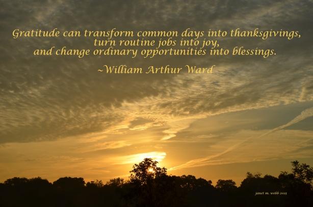 gratitude copyright janet m. webb 2015
