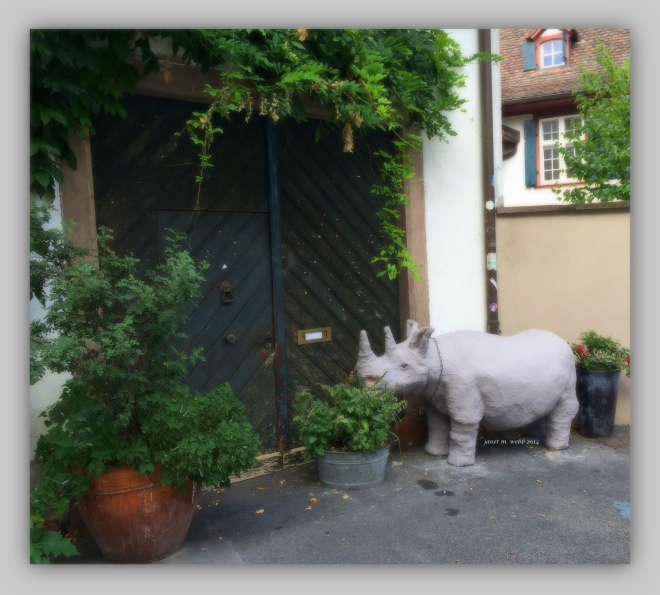 Basel doors #2 copyright janet m. webb 2014